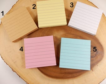 Square Notepad, Retro Style Stationery, Post It Notes, Pastel Tones, Memo Pads