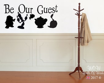 Disney Be Our Guest Beauty and the Beast Wall Sticker / Decal