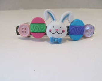 Easter Bunny Button Barrette, Easter gifts, Gifts for her, Gifts for girls, Hair Accessories, Hair Clip, Button Barrette