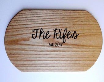Personalized Serving Tray | Personalized Serving Platter | Personalized Cheese Board | Personalized Wedding Gift | Personalized Gift for Mom
