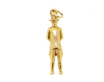 14ct yellow gold top hat and tailcoat traditional dressed smart man male charm