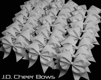 Solid Glitter Cheer Bow - your choice of colors, Glitter Cheer Bows, Cheer Bow, Rhinestone Cheer Bow