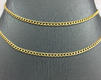 14K Yellow Gold 2.50mm Cuban Link Chain