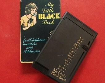 My Little Black Book - Super Cool Vintage Address Book!