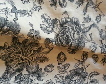 Floral English Rose fabric