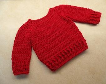 Crochet Cute Baby Sweater Pattern DIGITAL DOWNLOAD ONLY