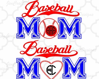 Baseball Mom SVG Design monogram Frame svg cut files for use with Silhouette, Cricut & other Vinyl craft Cutters, SVG, Eps, Png, Ai, Jpg,DXF