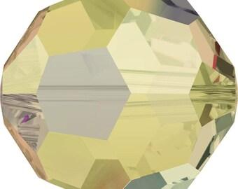 Swarovski Crystal Round Beads 5000 - 4mm 8mm - Light Colorado Topaz AB 2X