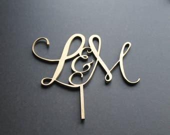 Cake Topper Wedding Custom Personalised Monogram