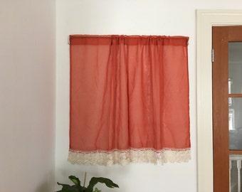 Orange Curtains Etsy
