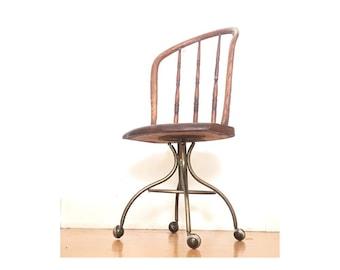 Rustic desk chair