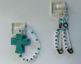 Cross Bracelets w/ Pinz Earring Sets