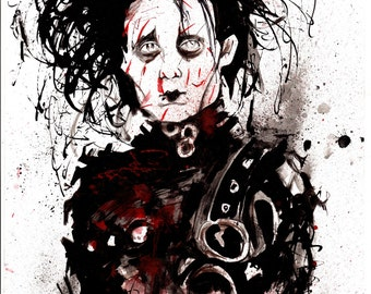 Edward Scissorhands A4 sized Pen and ink original drawing