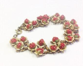 Vintage, 1930s to 1940s, flower bracelet.