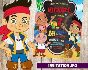 jake and the neverland pirates Invitation, jake and the neverland pirates  Party, Birthday Invitation,  Invitation, jake  Printable