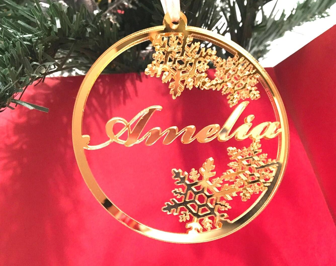 Xmas decor Custom made Christmas acrylic bauble Snowflake ...