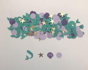 Mermaid Confetti | Under the Sea Party  | Mermaid Party Decor |  Little Mermaid Party Confetti |  Created by Confetti Betti