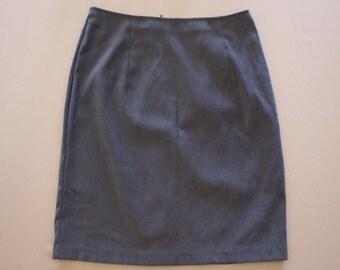 Grey Suede Skirt | Professional Vintage Wear | Brett Alexander