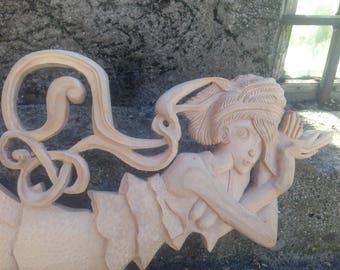 """Wooden sculpture """"fairy"""""""