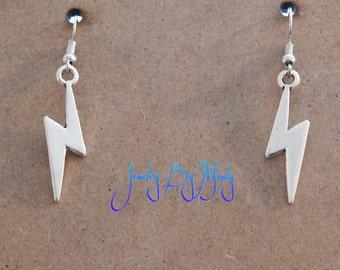 Harry Potter Inspired Lightning Bolt Earrings