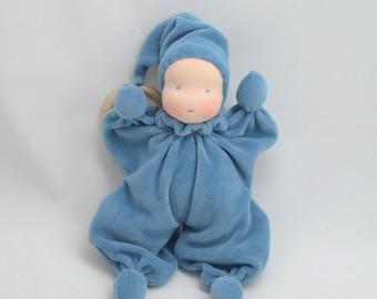 "Waldorf doll, waldorf baby doll, waldorf toys, soft dolls 8"", bunting baby (made to order)"