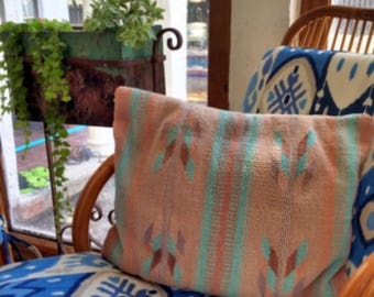 Kilim Pillow Bohemian Decor 70's Jungalow Style