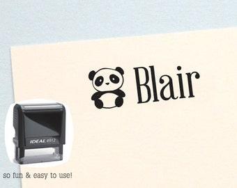 Personalized Kids Gifts, Panda Bear Self Inking Name Stamp, Personalized Birthday Gift, Kids Name Stamp, Panda Name Stamp, AK139