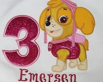 Skye Paw Patrol Birthday Shirt, Skye birthday shirt, Paw patrol birthday shirt