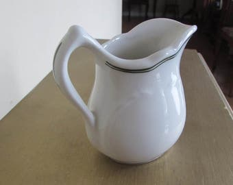 """Sterling Restaurant Ware Pitcher East Liverpool 4"""" by 4"""" 8 oz (Factory Second)"""