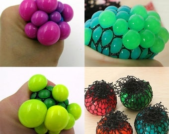 Sensory Squishy Mesh Stress Ball Squeeze Toy Fidget ADHD Stress Relief Homemade In USA