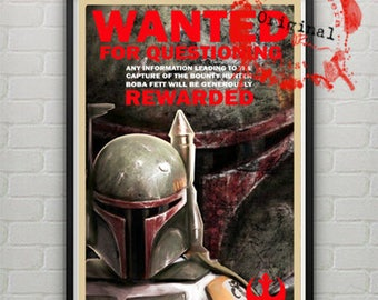 Star Wars Bounty Hunter Wanted Boba Fett