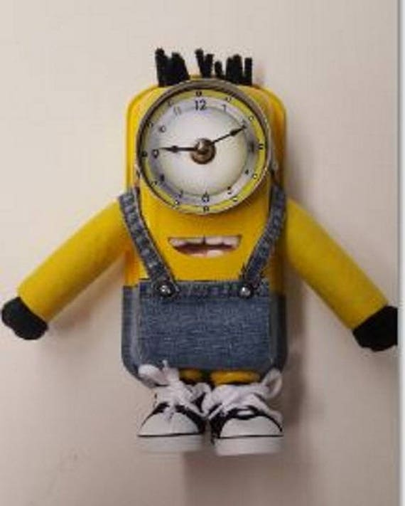 Handmade Minion Inspired Clock