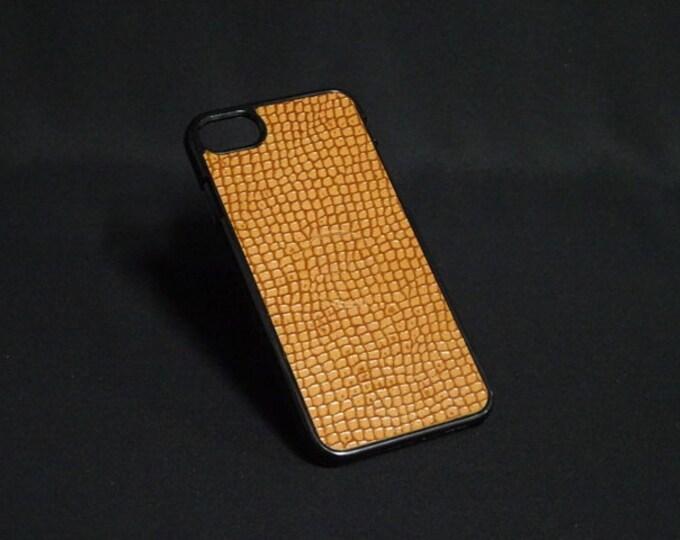 Jimmy Case - Fits Apple iPhone 7 - Python Texture - Kangaroo leather - Handmade - James Watson