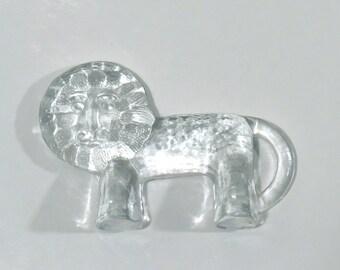 Kosta Boda Glass Lion