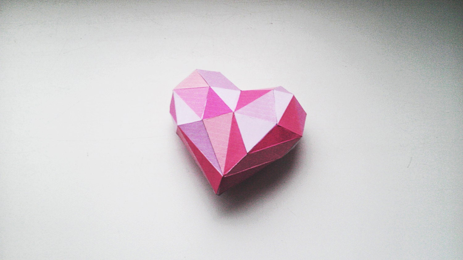 diy 3d papercraft valentine heart pdf printable model