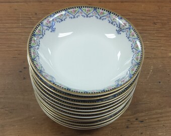 Set of 4 Berry/Fruit Dessert Bowls ~ Schleiger 617a Theodore Haviland Limoges France ~  Replacement China ~ 4 6 8 10 12 avail.