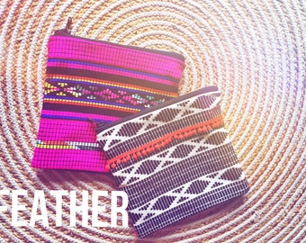 Feather Monochrome Fiesta clutch