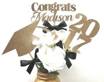 Personalized Graduation Centerpiece, Class of 2017 Centerpiece, Grad Centerpiece, Congrats Centerpiece, High School Graduation Centerpiece