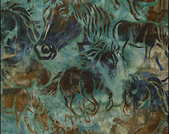Artisan Batik - HORSES ab-16115-70 Aqua