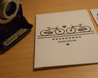 Bicycle Wedding Invitation.