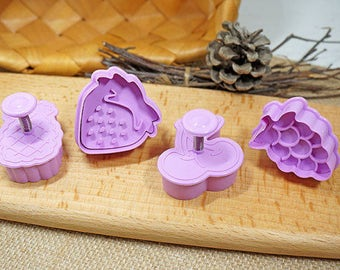 3D Cookie Stamp Cutters, Fruits Cookie Stamp, Embossing Cookie Mold, Candy Stamp Cutters, Candy Mold, Baking Supply