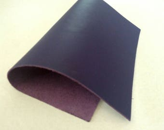 """Leather Scrap, Genuine Leather, Leather Pieces, Datk Violet, Size 8.25"""" by 11.5""""  Leather Scrap for DIY Projects."""