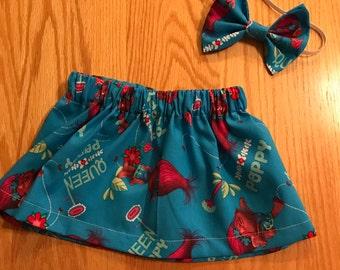 Trolls skirt set