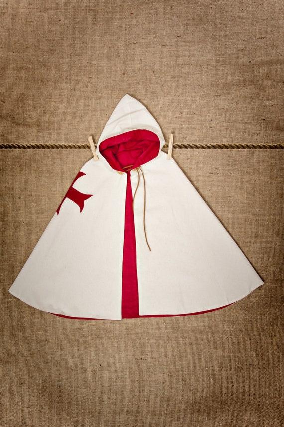 Luxury CAPE of Knight Templar Costume
