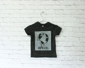 Mother Earth is my homegirl shirt | toddler t shirts, baby tee, bohemian baby clothes, hippie baby clothes, toddler gift, BLACK