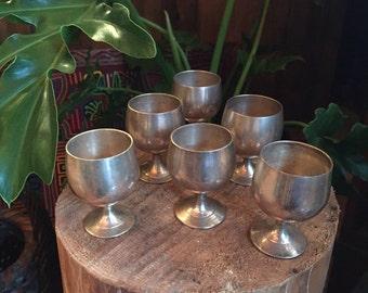 6 vintage goblets/shots cup