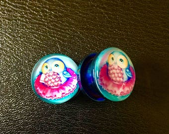 """""""Sweet blue Owl"""" plug 16mm"""