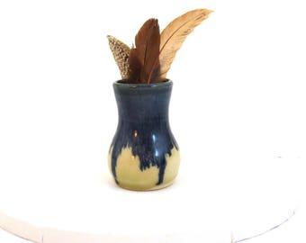Bud Vase, Ceramic Bud Vase, Flower Vase, Small Pottery Vase, Blue Vase, Handmade Vase, Tiny Vase, Anniversary Gift, Graduation Gift