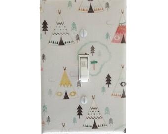 Teepee - Woodland - Boho Decor - Light Switch Cover