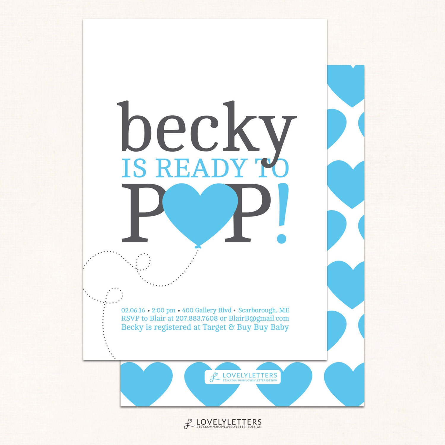 Ready to Pop Baby Shower Invitation She s Ready to Pop